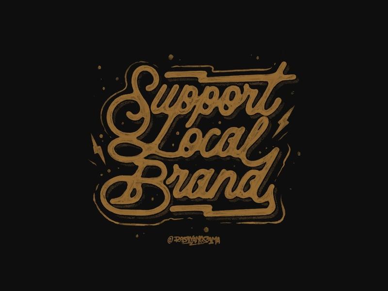 Support Local Brand vintagedesign rysdsgstd design logotype custom lettering