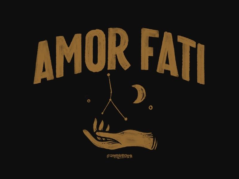 Amor Fati typography logotype americandesign customlettering handdrawn vintagedesign handlettering lettering