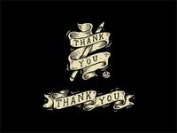 Thankyou Dribbble