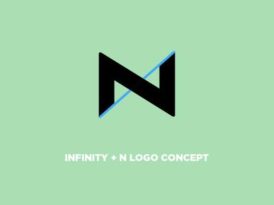 N + Infinity Logo Concept