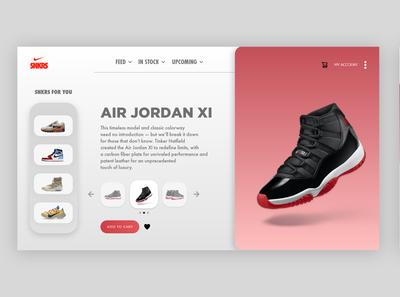 "Nike ""SNKRS"" UI Redesign"
