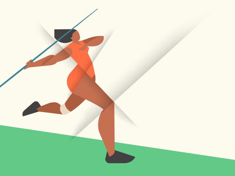 Javelin-throwing illustration sport olympic