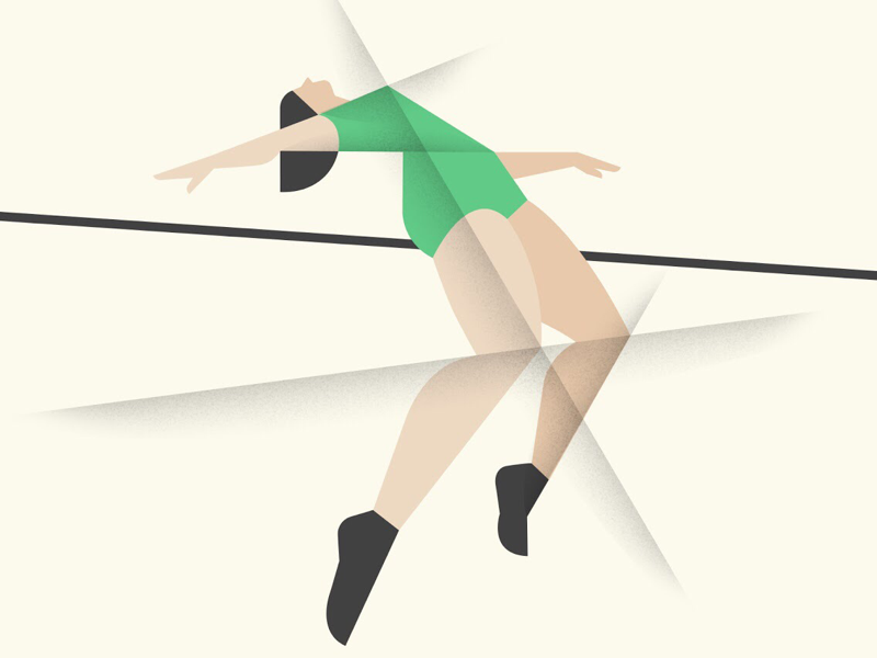 High jump illustration sport vector women