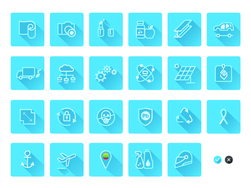 Icons flat  design icons set identity vector illustration design branding
