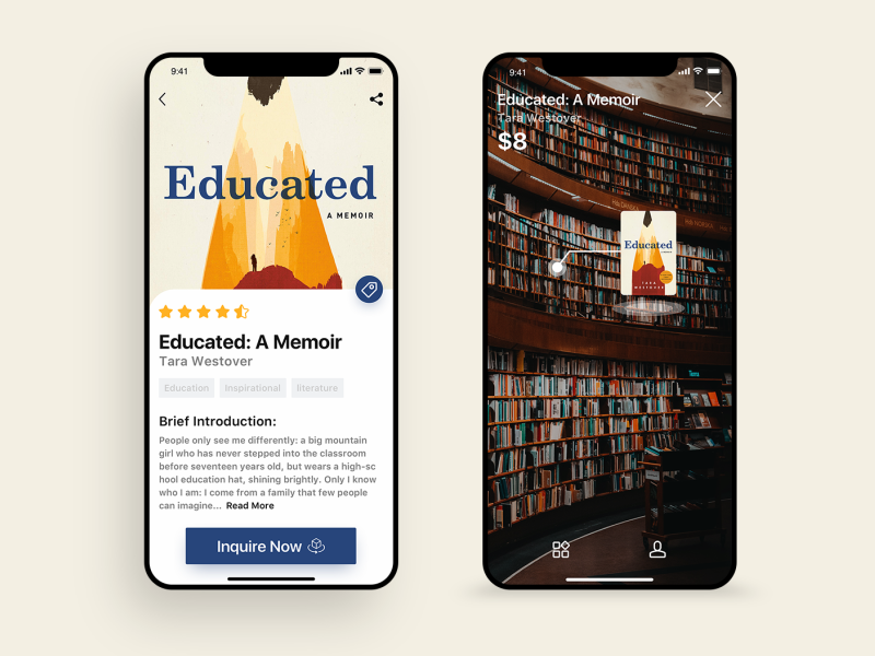 Daily UI#23 library APP