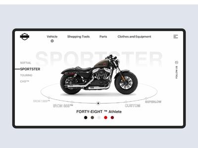 Daily UI#25 Motorcycle website