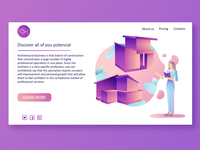 illustration for landing page of architect`s courses