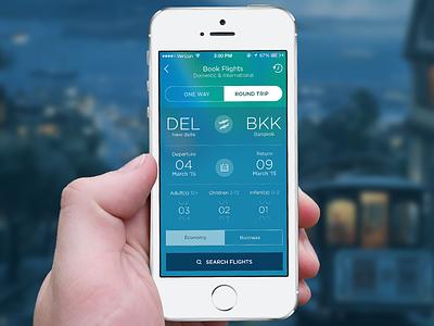 Flight booking Screen travel flight online booking iphone ios mobile app hotel