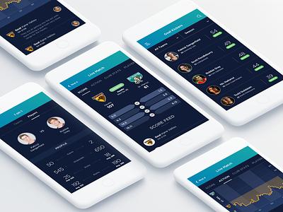 Score Stats App mobile app iphone app ui sports players live stats live score score app