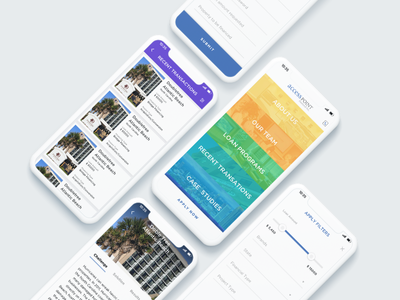 AccessPointFinancial App minimalistic white ui clean iphone x financial ui ux mobile app ios