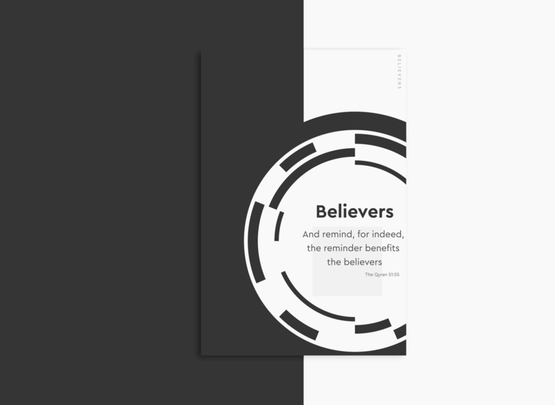 Branding | Shapes Believers simple ui believers abstract wanderlust vector typography type texture swiss retro posterdesign poster minimal illustration shapes color art