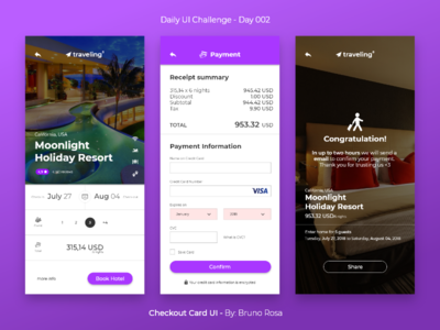 Daily UI - Checkout Credit Card - Day 002