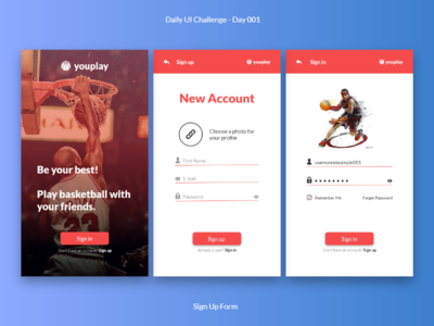 Daily UI - Sign Up Form - Day 001