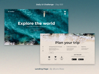 Daily UI - Landing Page - Day 003