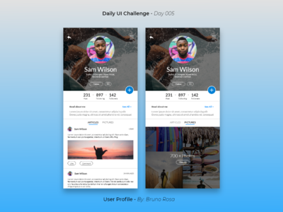 Daily UI - User Profile - Day 005