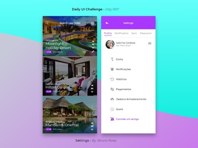 Daily UI - Settings - Day 007