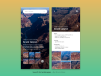 Search for landscapes - Daily UI