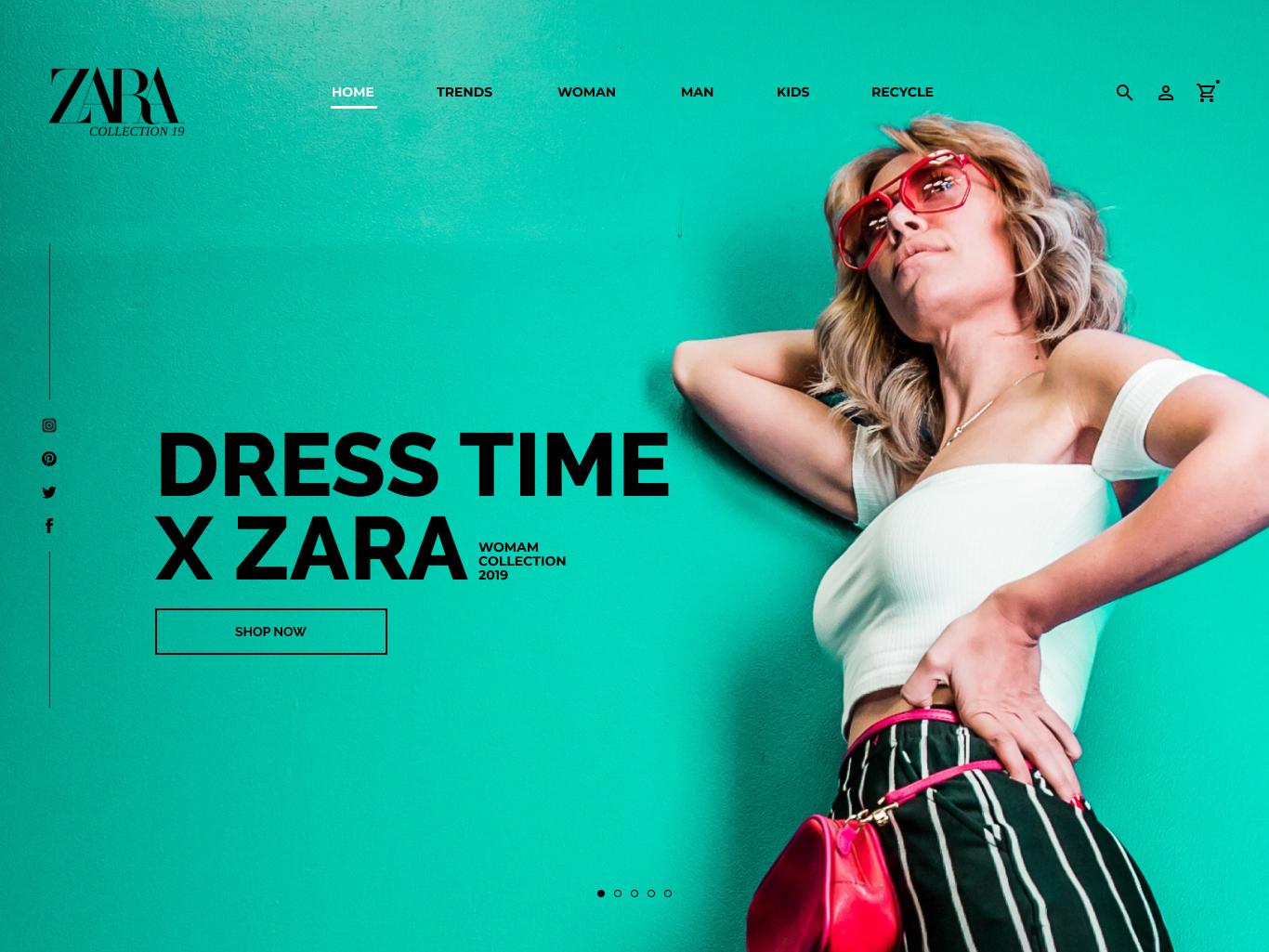 Redesign Zara Homepage ux design branding ui-design typography ux-design daily-ui