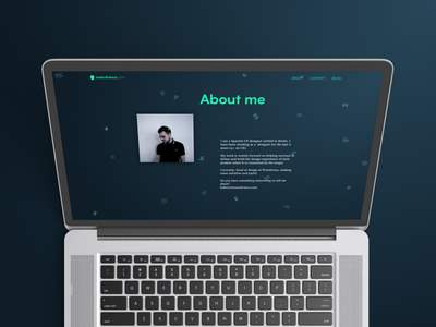 New About Me Page mockup confetti website homepage design ux portfolio web about