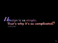 Design is so simple.. (dark)