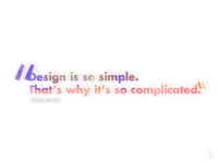 Design is so simple.. (light)