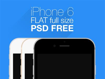 iPhone 6 flat mockup iphone iphone6 apple mockup flat