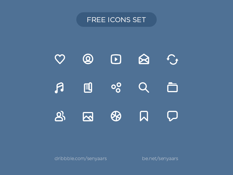 Free icons from - Vkontakte redesign concept 2015 simple icons clean pixelperfect free shaps set