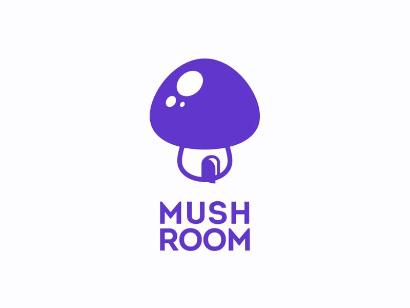 Mushroom logo hat violet house home door mushroom logo
