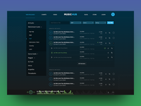 Web interface for a music portal