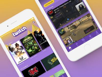 New Twitch - iOS Interface Redesign games mobile interface interaction navigation twitch ui ux restyle redesign
