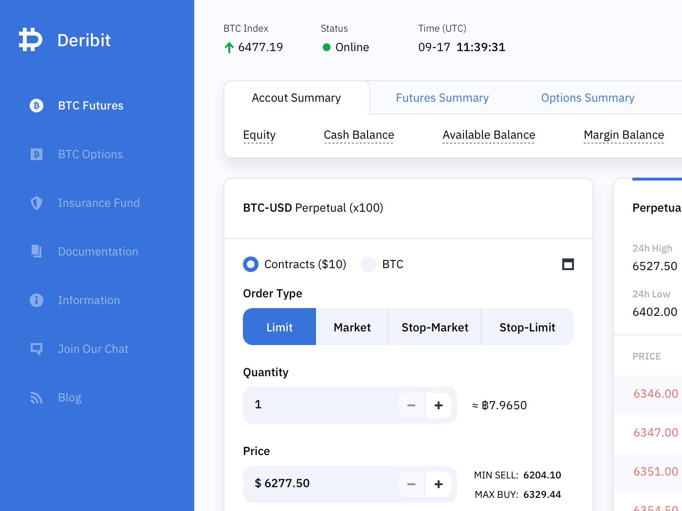 Cripto Trading Platform Concept Design - Deribit light white shadow coin minimalism bitcoin icons sidebar web dashboard trading crypto interface clean ui ux