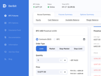 Cripto Trading Platform Concept Design - Deribit