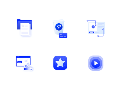 Icons for Plastik Website icongraphy wireframing business analysis motions ix ui branding light clean icons