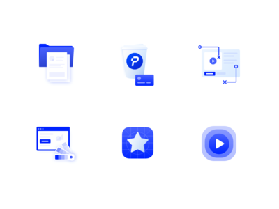Icons for Plastik Website