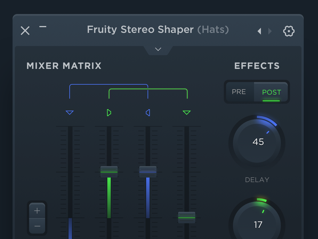 UI Concept for Digital Audio Workstation desktop software design application ui master record studio drum audio mix music
