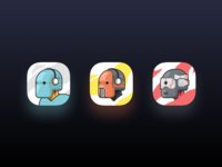 Music Robot App icon flat android robot vector logo illustration app icons