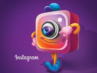 Instagram character photoshop cute art cartoon cartoon illustration characterdesign illustration