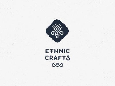 Ethnic Crafts handmade tribal craft ethnic logo