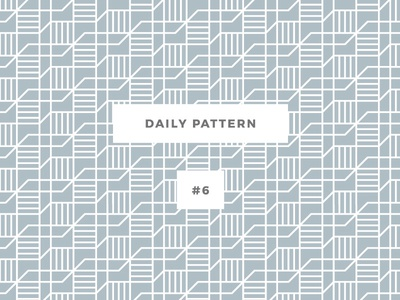 Daily Pattern #6 pattern patterns challenge daily onepatternoneday geometric vector seamless texture ornament background