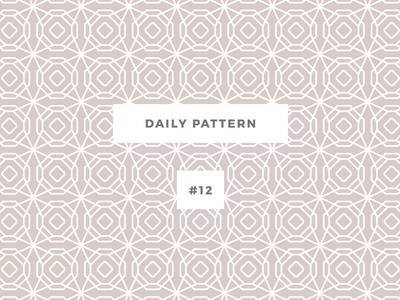 Daily Pattern #12 pattern challenge daily onepatternoneday geometric vector texture ornament background