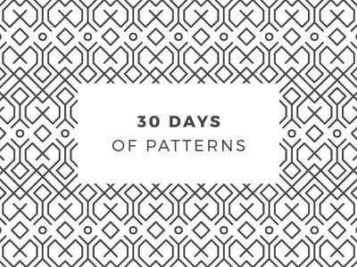 30 Days Of Patterns pattern patterns challenge daily onepatternoneday geometric vector seamless