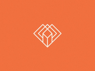 Daily Sign square mark sign logo heart diamond geometric
