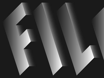 A detail of a logo proposal concept branding illustration design typeface type logo 3d typography identity logo adobe illustrator