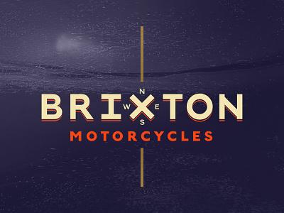 Brixton Motorcycles logo 3d motorbike identity logo