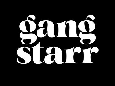 Gang Starr typography design hip hop type design typeface typedesign fonts typography type