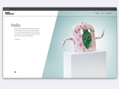 Artist's Website responsive website responsive design mobile design art artist ui  ux ui ui design webdesign