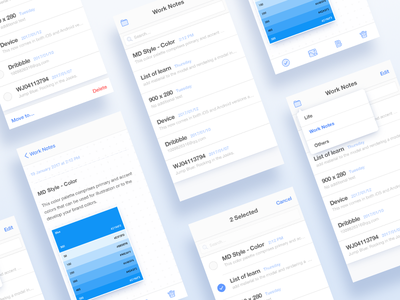 Memo App practice editor list blue interface ui memo notes