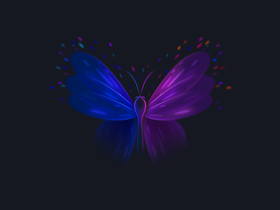 Butterfly butterfly color wings graphic illustration