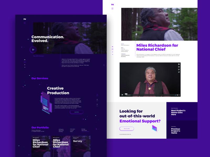 Proximis Website branding website ui visual identity