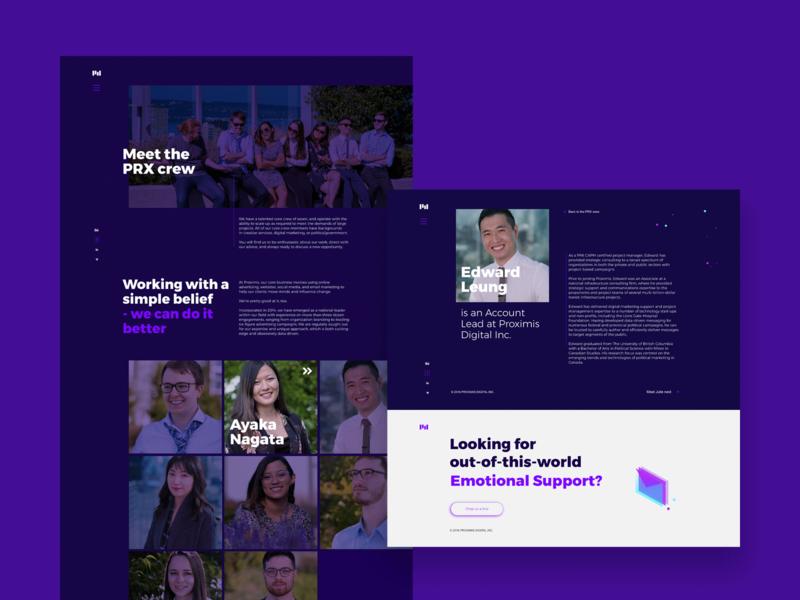 PRX | 02 branding visual identity website ui